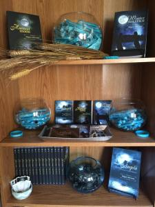 The bookshelf in my house dedicated to the Harvest Series!!